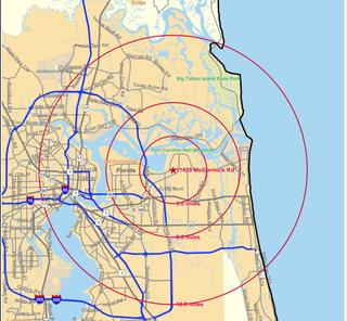 Radius map32225