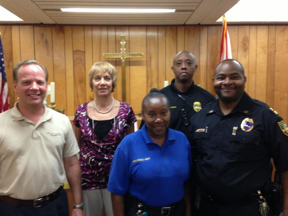 My Thursday devotional at the Jacksonville Sheriff's  office